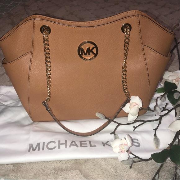 448f2bd4d142 Michael Kors Bags | Free Shippingmk Large Chain Leather Shoulder ...